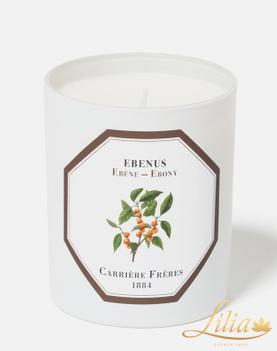 Luxury aromatic candle Carrière Frères Ebony